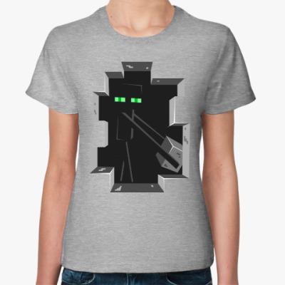 Женская футболка Enderman . Minecraft