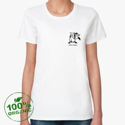 Женская футболка из органик-хлопка корова