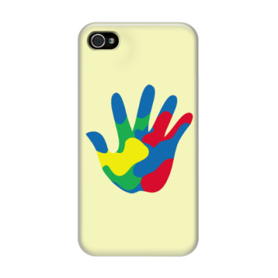 Чехол для iPhone 4/4s Отпечаток Руки