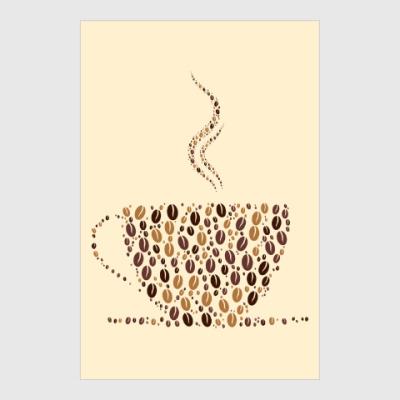 Постер Кофе из кофейных зерен