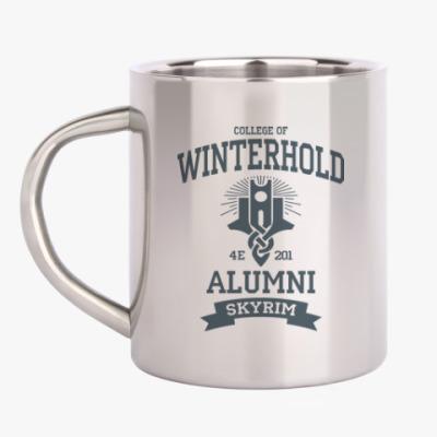 Кружка металлическая Skyrim College of Winterhold