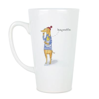 Чашка Латте Такса-француженка