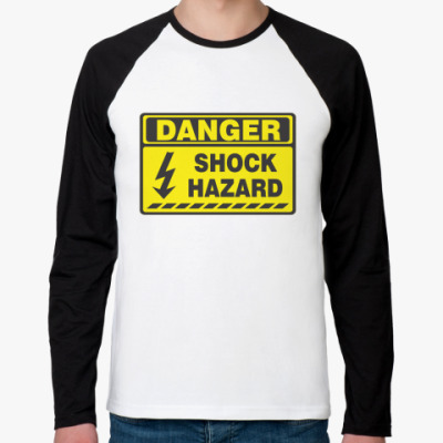 Футболка реглан с длинным рукавом danger shok hazard