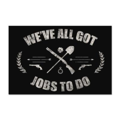 Наклейка (стикер) Walking Dead Ходячие мертвецы