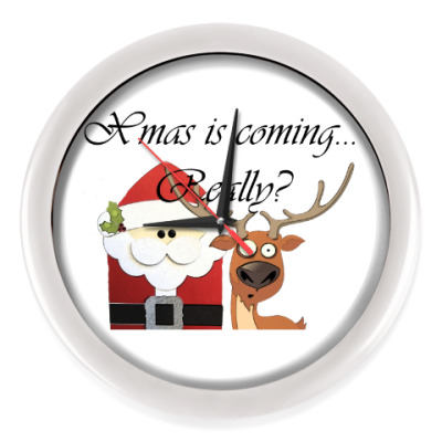 Настенные часы Рождество наступает