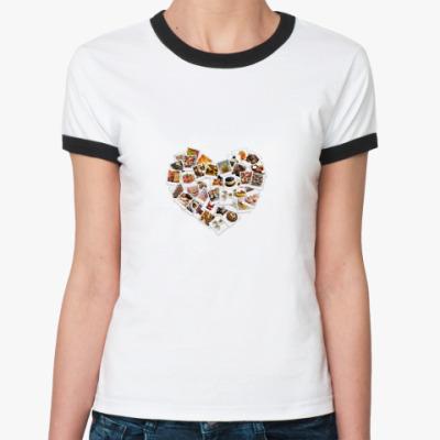 Женская футболка Ringer-T Сладости