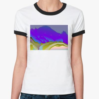 Женская футболка Ringer-T  Горы