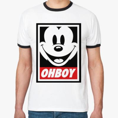 Футболка Ringer-T OHBOY