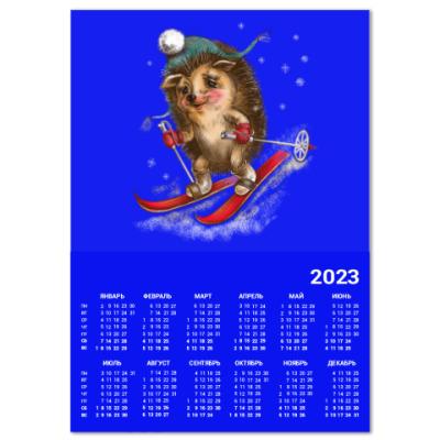 Календарь Ёжик лыжник