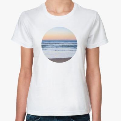 Классическая футболка Закат Море Лето