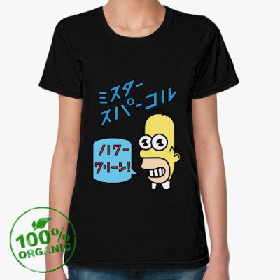 Женская футболка из органик-хлопка Симпсоны: Японский Гомер