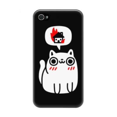 Чехол для iPhone 4/4s Котик злой