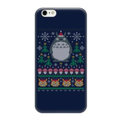 Чехол для iPhone 6/6s Новогодний Тоторо и кот Totoro