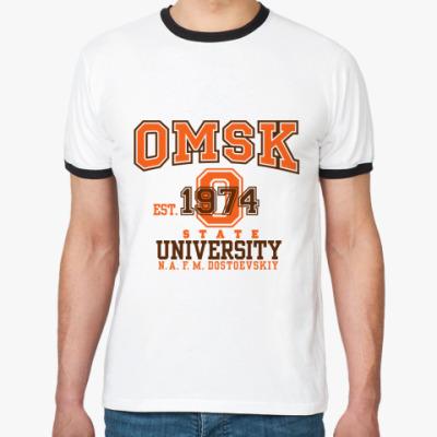 Футболка Ringer-T  ОмГУ