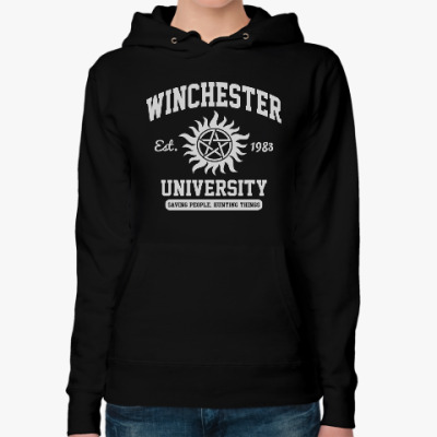 Женская толстовка худи Winchester University