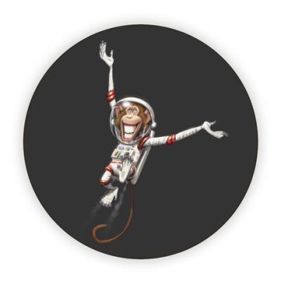 Костер (подставка под кружку) Обезьянка Космонавт
