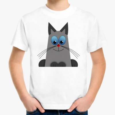 Детская футболка Голубоглазый котик