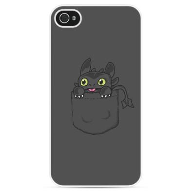 Чехол для iPhone Ночная Фурия в кармане
