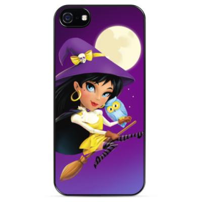 Чехол для iPhone Ведьма и сова