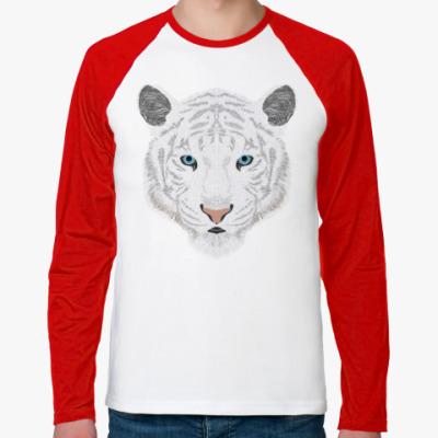 Футболка реглан с длинным рукавом Белый тигр