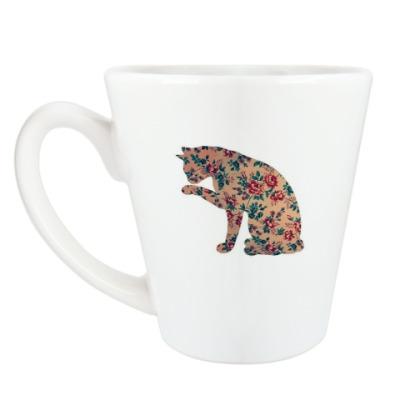кошка из цветов