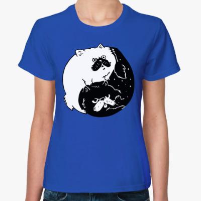 Женская футболка Инь и ян