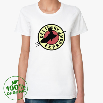Женская футболка из органик-хлопка Ведьмина служба доставки