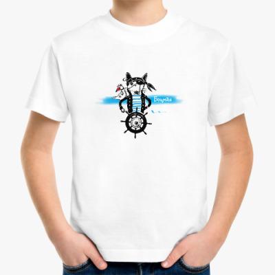 Детская футболка Морской волк с чайкой - пираты северных морей.