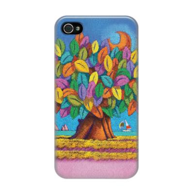Чехол для iPhone 4/4s Дерево Счастья