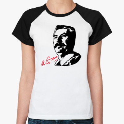 Женская футболка реглан Сталин