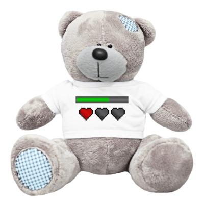 Плюшевый мишка Тедди Восьмибитное сердце / Симс