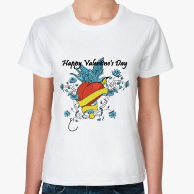 Классическая футболка С днем Св. Валентина