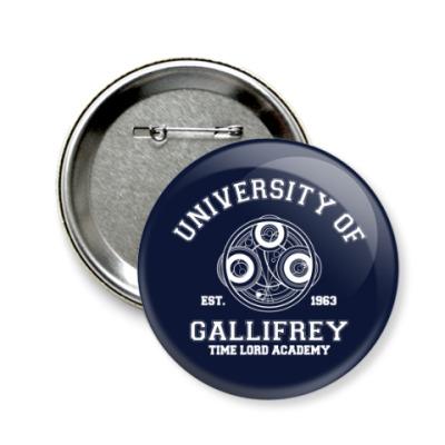 Значок 58мм University of Gallifrey