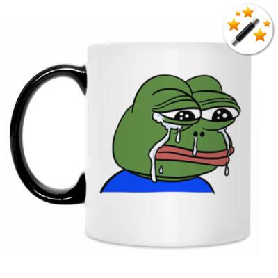 Кружка-хамелеон Crying Pepe