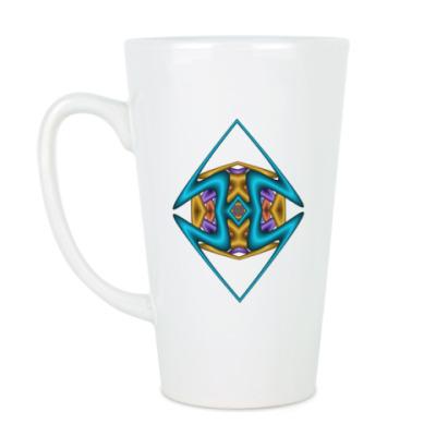 Чашка Латте Ромб