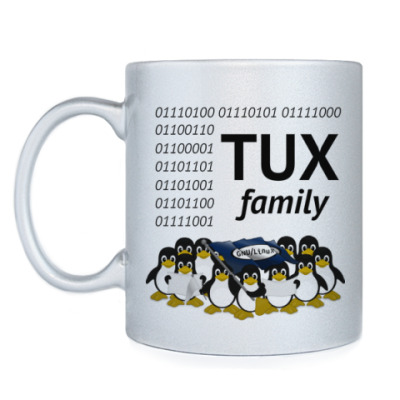 Кружка TUX family, admin's cup
