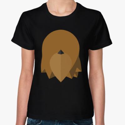 Женская футболка Чубакка (Chewbacca) Минимализм