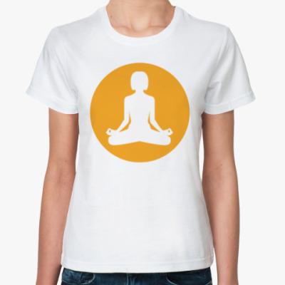Классическая футболка Yoga Girl