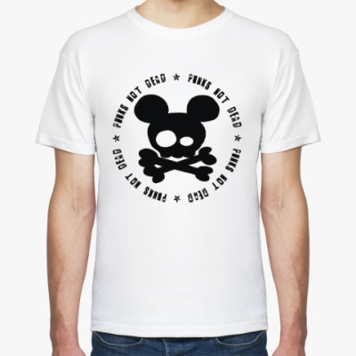 Футболка Mickey, punks not dead!