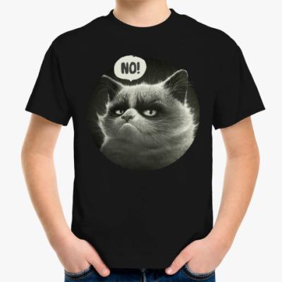 Детская футболка Кот Tard Grumpy Cat портрет