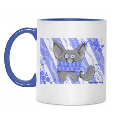 Кружка Синий кот
