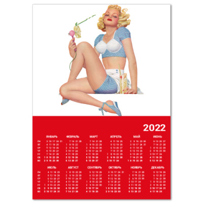 Календарь  A4 Девушка №5*11