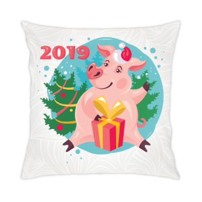 Подушка Год кабана 2019