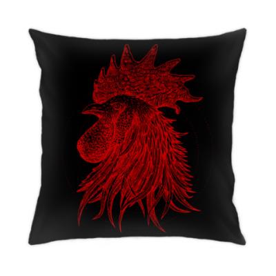 Подушка Красный петух символ Года