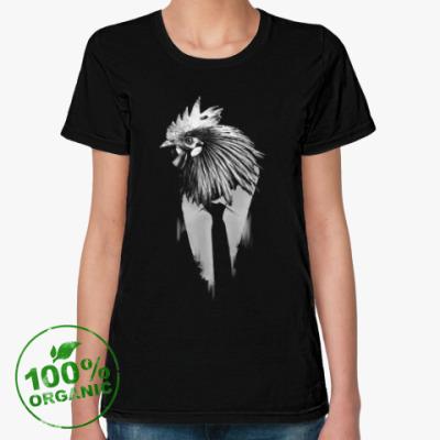Женская футболка из органик-хлопка Петух, талисман года