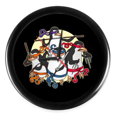 Настенные часы Пингвины ниндзя