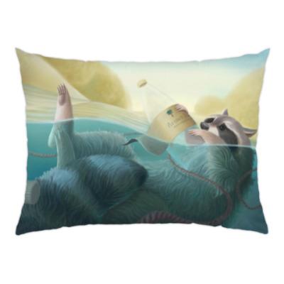 Подушка Енот в воде