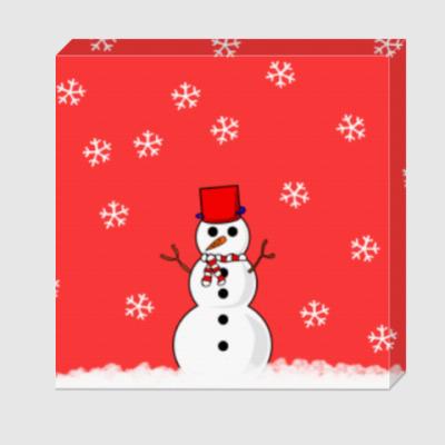 Холст Снеговик