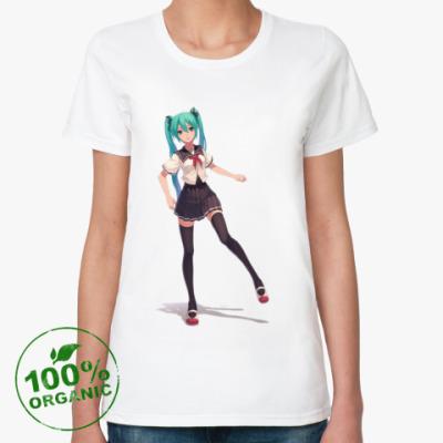 Женская футболка из органик-хлопка Hatsune Miku