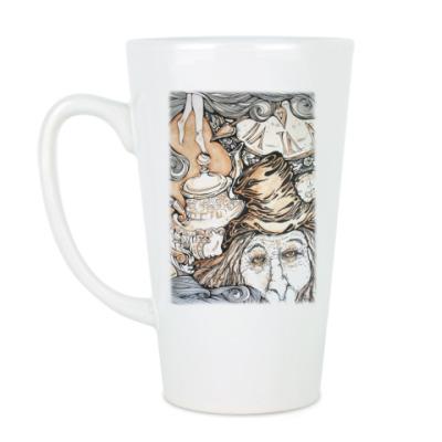Чашка Латте  Алиса в Стране чудес